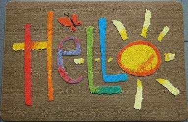 【送料無料】【レビューを書いてプレゼント】屋外用玄関マット・ドアマット ハロー柄 HELLO フ...
