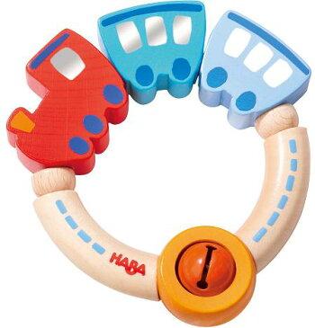 HABA ハバ社 木のおもちゃ ドイツ製 ラトル シュッポッポ がらがら 電車 乗り物 ベビー用 知育玩具