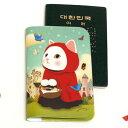 jetoy ジェトイ choochoo本舗 猫雑貨 猫のパスポートケース 赤ずきんネコ 白ねこ 旅行 【あす楽対応】