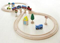 【レビューを書いてプレゼント】木のおもちゃ 汽車レールセット スタンダード 電車玩具 ★即発...