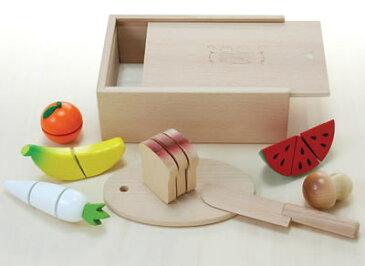 木のおもちゃ 包丁屋さんCセット おままごとセット 野菜切り 【あす楽対応】
