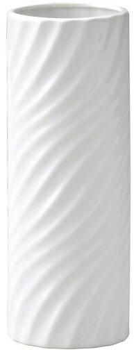 フラワーベース『陶器波紋ホワイト』