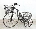 アイアン製プランター トライシクル ダークブラウン 自転車 ...