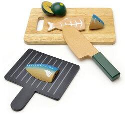 木のおもちゃ焼き魚セットマグネット式和食おままごとセット日本食ご飯、納豆、厚焼き卵、しょうゆ、まな板、包丁など木製玩具