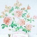 ウォールステッカー ハウスジーダ オレンジローズ フラワーインテリア 薔薇の壁紙インテリアシール バラの壁飾り インテリア雑貨 模様替えに Hausgida 【あす楽対応】の写真