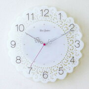 スクロック アクリル ストーン 掛け時計 ホワイト