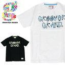 GROOVER GRAND グルーバーグランド Tシャツ メンズ 半袖Tシャツ Tee ボタニカル柄 花柄 英字ロゴ プリント カラフル XXL 2XL 2L 3L 大きいサイズ ストリート系 ファッション ダンス B系 かっこいい ブラック ホワイト ネイビー