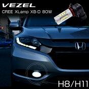 【着後レビューで送料無料】ホンダヴェゼルH8H11フォグバルブ80W級CREE社製XBD光源搭載16LED
