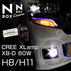 NBOX専用H8H11フォグバルブ80w級CREE社製XBD光源搭載16【LED】