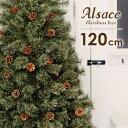 クリスマスツリー 北欧 クリスマス ツリー 120cm 樅 クラシックタイプ 高級 ドイツトウヒツリー ヌード オーナメントなし タイプ アルザスツリー おしゃれ 北欧 シンプル リアル 松ぼっくりつき