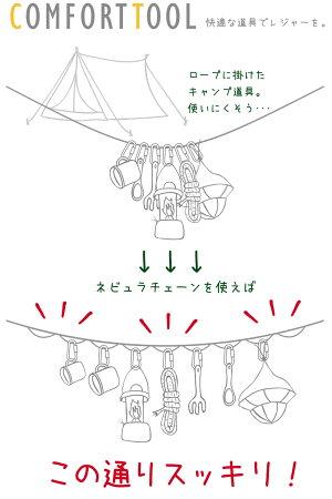 ハンギングチェーンネビュラチェーン収納袋テントタープ紐ひもデイジーロープ吊り下げ迷彩ボーダー柄キャンプ用具(ゆうパケットなら送料無料)