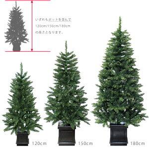 【送料無料】クリスマスポットツリー木製ポット180cmクリスマスツリーヌードツリー