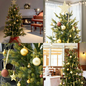 10月中旬入荷予約クリスマスツリー用オーナメントセットアソート飾り星シェルボール71pゴールドレッドピンクブルー33pモノトーン大人クリスマスツリー北欧店家庭用