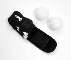 ゴルフボールケースポーチ軽量ネオプレーン素材ティー付き全10色