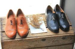 【2014秋冬】【新色入荷】chausser(ショセ)C2174レザーリボンメダリオンスリッポン【送料無料】ground|靴
