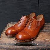 【今すぐ使える1000円OFFクーポン♪】【送料無料】【定価\49,000→\34,300】Men's chausser/ショセ C7015 短靴ドレスシューズブラウン ground 靴【返品交換不可】