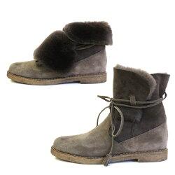 【2015秋冬】STEFANOGAMBA/ステファノガンバ6974折り返しスウェードムートンブーツトープ|ground|靴【送料無料】