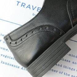 【送料無料】【2017春夏先行予約】【新色】TRAVELSHOESbychausser(トラベルシューズバイショセ)TR-004ウィングチップマニッシュシューズネイビー×ホワイト|ground|靴|