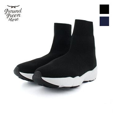 【2018秋冬】ground green store/グラウンドグリーンストア 1004 ストレッチブーツ ソックスブーツ ショートブーツ スニーカー|ground|靴|