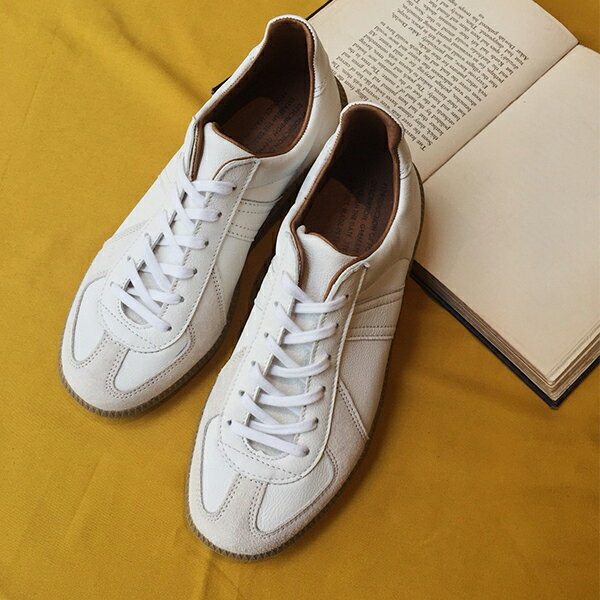 【再入荷】REPRODUCTIONOFFOUND リプロダクションオブファウンド1700L ジャーマントレーナー メンズ レディース ミリタリー スニーカー ホワイト ground 靴 レビューキャンペーン実施中画像