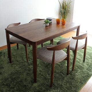 商品名 RENOリーノダイニングセット食卓テーブルカラー ウォールナットサイズ テーブル幅130奥行80高72cmサイズ チェア幅52奥行48高70cm生産国 ベトナム主素材 ウォールナット無垢北欧シンプル5点