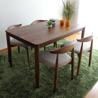 商品名|RENOリーノダイニングセット食卓テーブルカラー|ウォールナットサイズ|テーブル幅130奥行80高72cmサイズ|チェア幅52奥行48高70cm生産国|ベトナム主素材|ウォールナット無垢北欧シンプル5点
