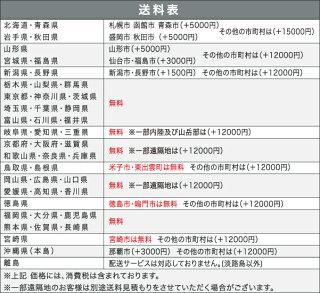 配送料金表(一部有料エリアがございます)