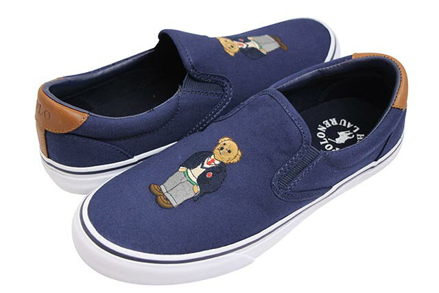 メンズ靴, スニーカー POLO RALPH LAUREN THOMPSON POLO BEAR SNEAKER (816745841001:NAVY)