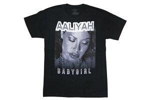 AALIYAH OFFICIAL BABY GIRL S/S T-SHIRT (BLACK)アリーヤ/ショートスリーブティーシャツ/ブラック