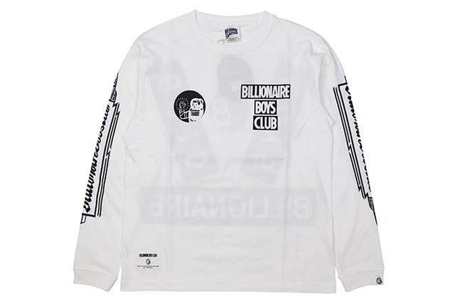 トップス, Tシャツ・カットソー BILLIONAIRE BOYS CLUB BOX LS T-SHIRT (BBCJP193T006:WHITEBLACK)