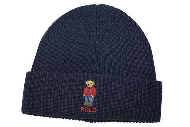 メンズ帽子, ニット帽 POLO RALPH LAUREN POLO PONY BEAR KNIT CAP (PC0491433:NAVY)