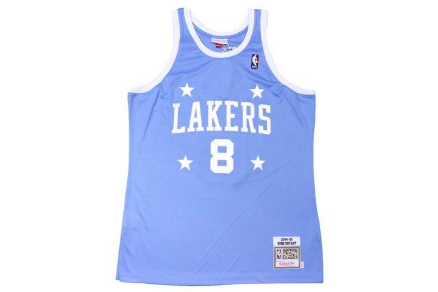 ●MITCHELL&NESS AUTHENTIC THROWBACK JERSEY (NBA/LOS ANGELES LAKERS/04-05/KOBE BRYANT: LIGHT BLUE)ミッチェル&ネス/スローバックバスケットゲームジャージ/水色:GROW AROUND グロウアラウンド
