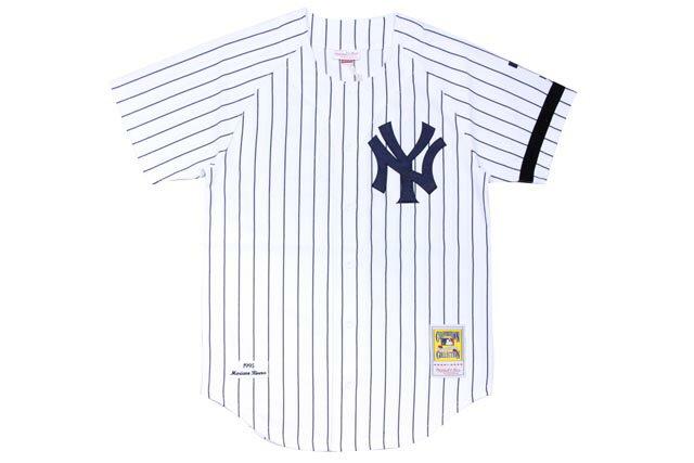 MITCHELL&NESS MARINO RIVERA 1995 MLB AUTHENTIC JERSEY (NEW YORK YANKEES: WHITE×NAVY)ミッチェル&ネス/スローバックベースボールジャージ/白×紺:GROW AROUND グロウアラウンド