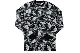 POLORALPHLAURENWaffle-KnitThermalL/ST-SHIRT(GreyCamo×Red)