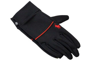 POLO RALPH LAUREN TOUCH GLOVES (6G0081/625)ポロラルフローレン/手袋/グローブ/黒×赤