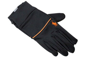 POLO RALPH LAUREN TOUCH GLOVES (6G008/800)ポロラルフローレン/手袋/グローブ/黒×オレンジ