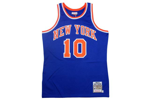 MITCHELL&NESS AUTHENTIC THROWBACK JERSEYS (New York Knicks 1972-1973/Walt Frazier: Blue)ミッチェル&ネス/スローバックジャージー/青:GROW AROUND グロウアラウンド