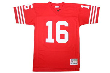 MITCHELL&NESS REPLICA THROWBACK JERSEY (San Francisco 49ers 1990/Joe Montana: Red)ミッチェル&ネス/スローバックジャージ/赤