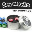 SimWorks シムワークス Sim Drops 24 バーエンドキャップ ロードバイク 自転車 ドロップハンドル