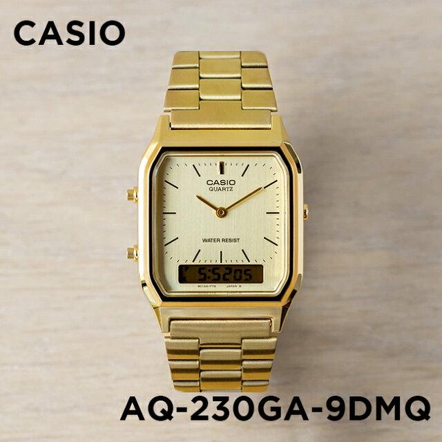 bc7848ae63 【10年保証】CASIO カシオ スタンダード AQ-230GA-9DMQ 腕時計 メンズ レディース キッズ 子供 男の子 女の子 チープカシオ  チプカシ アナデジ 日付 ゴールド 金