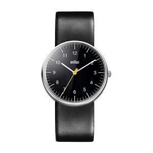BRAUN ブラウン アナログ メンズ BN0021BKBKG 腕時計 レディース ブラック 黒 シルバー レザー 革ベルト