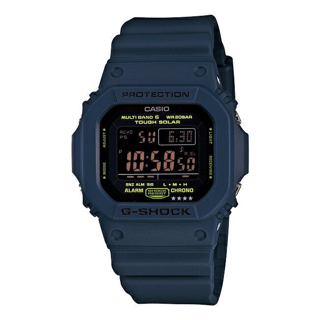 CASIO G-SHOCK カシオ Gショック GW-M5610NV-2JF 腕時計 メンズ キッズ 子供 男の子 デジタル 電波 ソーラー ソーラー電波時計 防水 ネイビー ブラック 黒