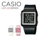 【10年保証】CASIO POPTONE DIGITAL LADYS カシオ ポップトーン デジタル レディース LDF-20 SERIES 腕時計 ブラック 黒 ピンク ホワイト 白 LDF-20-1A LDF-20-4A LDF-20-7A