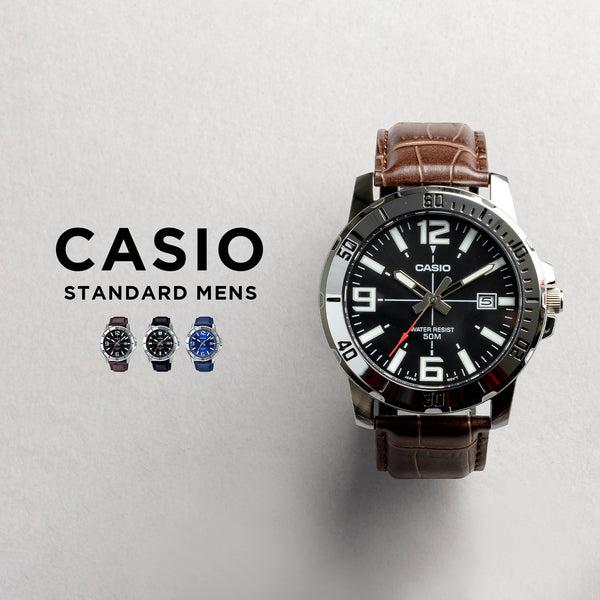 10年保証  日本未発売 CASIOカシオスタンダードメンズ腕時計キッズ子供男の子チープカシオチプカシアナログ日付ブラック黒ホ