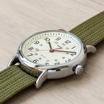 【訳あり】【箱つぶれ】TIMEX WEEKENDER CENTRAL PARK FULL SIZE タイメックス ウィークエンダー セントラルパーク メンズ T2N651 腕時計 レディース アナログ カーキ アイボリー ナイロンベルト
