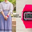 CASIO STANDARD DIGITAL カシオ スタンダード デジタル W-215H-4A 腕時計 時計 メンズ レディース チープカシオ チプカシ プチプラ ピンク ブラック 黒 日本未発売