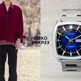 【10年保証】SEIKO セイコー リクラフト オートマチック SNKP23 腕時計 メンズ 逆輸入 アナログ シルバー ネイビー 海外モデル