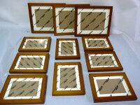 壁掛けウッドフォトフレーム木製フォトフレーム11個セット(ブラウン)