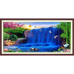 [送料無料] クロスステッチキット 初心者 風景クロスステッチ刺繍キット 夢の滝 図柄印刷