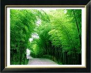 クロスステッチ刺繍キットDMC糸布地に図柄印刷竹林